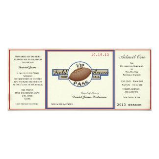 Paso del campo de fútbol del vintage invitación 10,1 x 23,5 cm