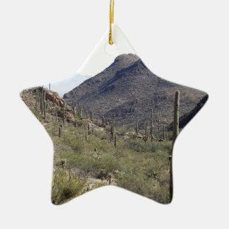 Paso del desierto del Saguaro Adorno De Cerámica En Forma De Estrella