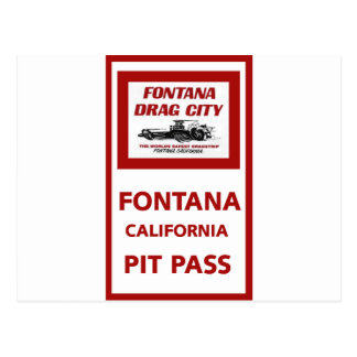Paso del hoyo de la tira de la fricción de Fontana Postal