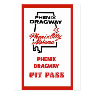 Paso del hoyo de Phenix Dragway Postal