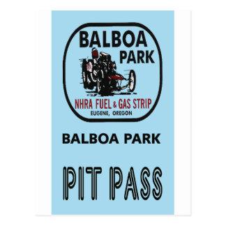 Paso del hoyo del parque del balboa tarjetas postales