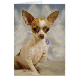Paso divertido del perrito de la chihuahua primer  tarjeta de felicitación