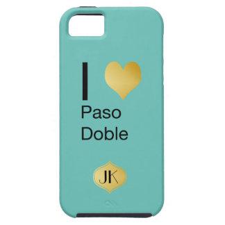 Paso doble juguetónamente elegante del corazón de funda para iPhone SE/5/5s