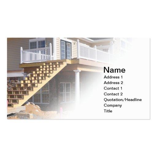pasos al aire libre bajo construcción tarjeta de visita