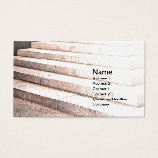 pasos al aire libre del cemento tarjeta de negocios