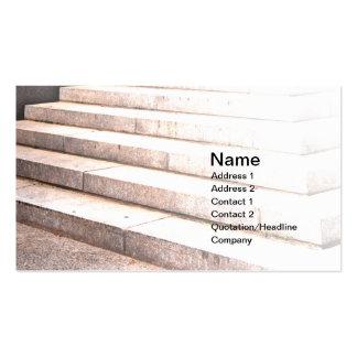 pasos al aire libre del cemento tarjetas de visita