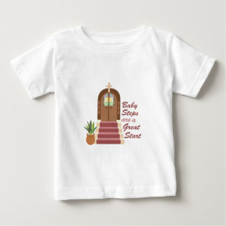 Pasos de bebé camiseta de bebé