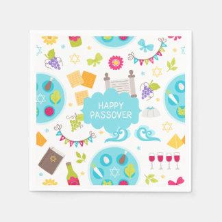 Passover feliz moderno colorido servilletas desechables