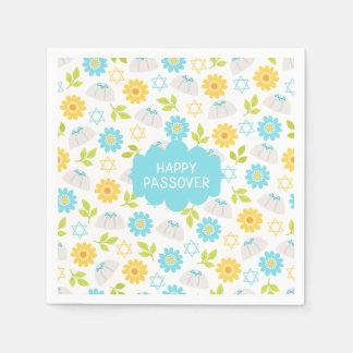 Passover floral Sedar de la primavera Servilletas Desechables