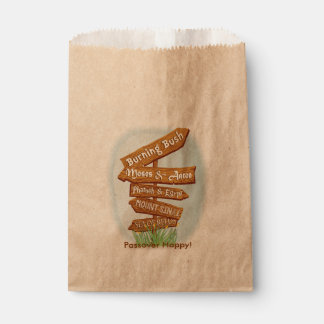 """Passover """"muestras bolso del favor de Goodie de Bolsa De Papel"""