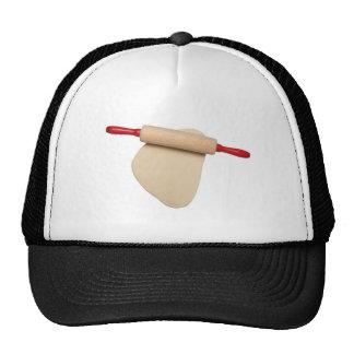 Pasta aplanada con el rodillo gorras de camionero