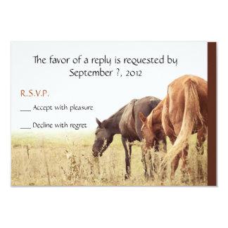 Pastando los caballos - tarjetas de RSVP Comunicado Personalizado