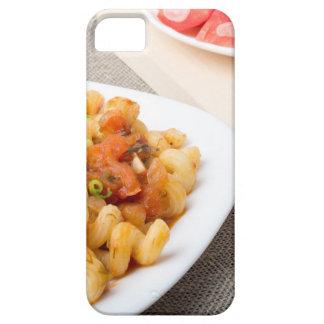 Pastas de Cavatappi con la salsa de verduras Funda Para iPhone SE/5/5s