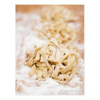 Pastas hechas en casa de la cinta, cierre para postal