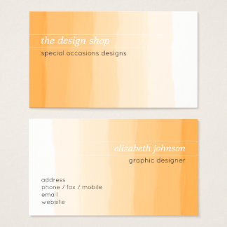 Pastel anaranjado simple elegante llano de la tarjeta de visita
