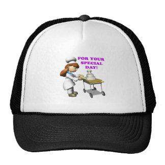 Pastel de bodas 3 gorras