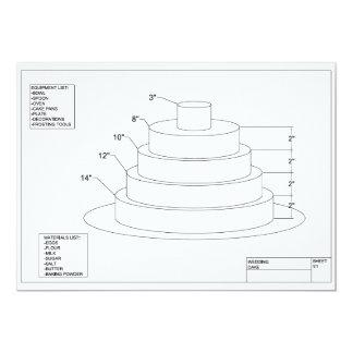 Pastel de bodas arquitectónico invitación 12,7 x 17,8 cm