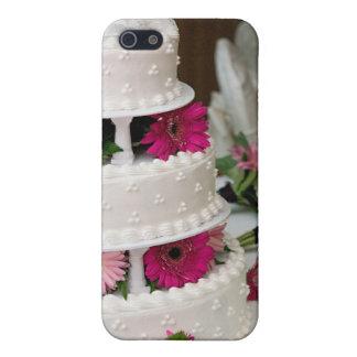 Pastel de bodas de la margarita del Gerbera iPhone 5 Protectores