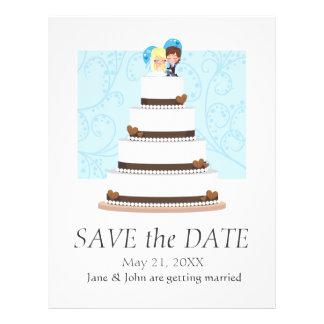 Pastel de bodas del chocolate folleto 21,6 x 28 cm