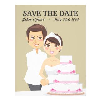 Pastel de bodas del corte folleto 21,6 x 28 cm