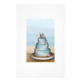 Pastel de bodas elegante de Shell del mar Folleto 14 X 21,6 Cm