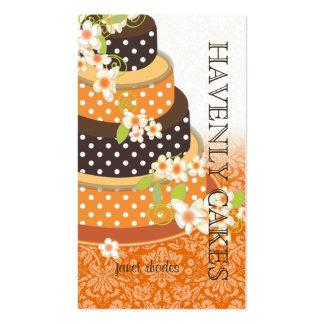 Pastel de bodas/panadería/pâtisserie del chocolate tarjetas de visita