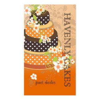 Pastel de bodas/panadería/pâtisserie del chocolate plantillas de tarjetas de visita