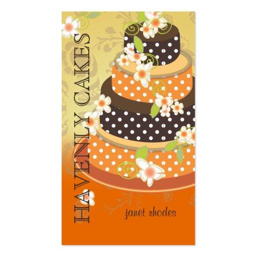 Pastel de bodas/panadería/pâtisserie del chocolate tarjetas de negocios