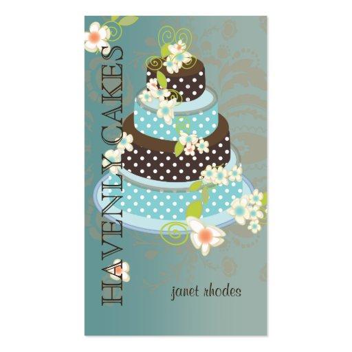 Pastel de bodas/panadería/pâtisserie del chocolate plantilla de tarjeta de negocio