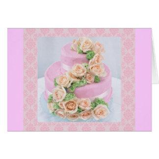 Pastel de bodas tarjeta de felicitación