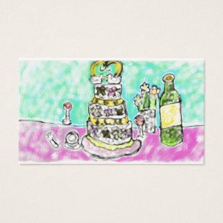 pastel de bodas tarjeta de visita