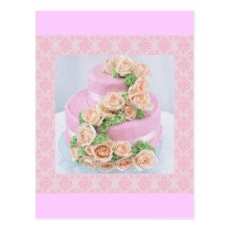Pastel de bodas postal