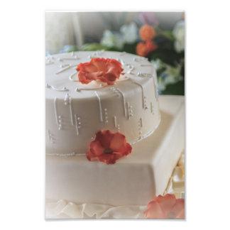 Pastel de bodas y linterna fotografia