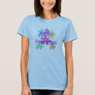 Pastel de la conciencia del autismo camiseta