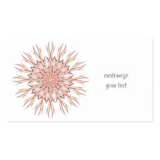 Pastel de la mandala tarjetas de visita