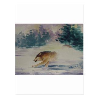 Pastel del lobo tarjeta postal