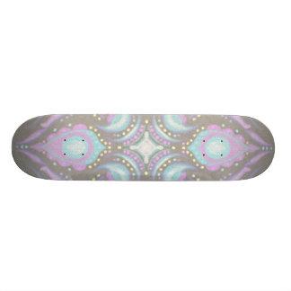 Pastel en mandala concreta de la calle tablas de patinar