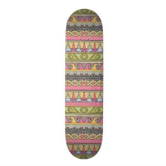 Pastel gráfico del vintage del modelo tribal geomé patin