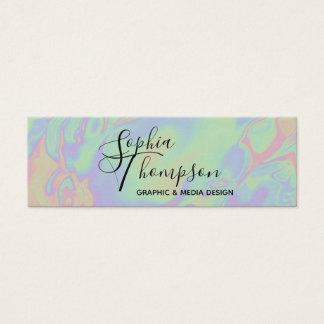 Pastel olográfico moderno del arco iris - tarjeta