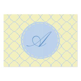 Pastel Quatrefoil del azul francés Tarjetas De Visita Grandes