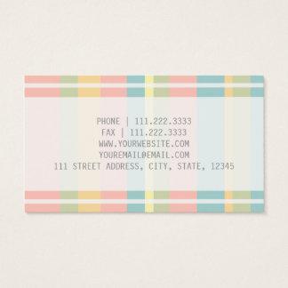 Pastel rayado tarjeta de negocios