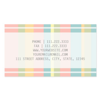 Pastel rayado plantillas de tarjetas personales