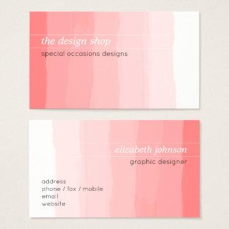 Pastel rosado simple elegante llano de la acuarela tarjeta de visita