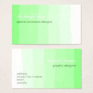 Pastel verde simple elegante llano de la acuarela tarjeta de visita
