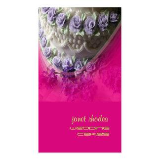 Pasteles de bodas chef de repostería rosa fuerte plantillas de tarjetas personales