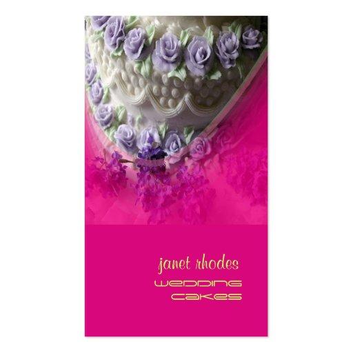 Pasteles de bodas chef de repostería, rosa fuerte plantillas de tarjetas personales