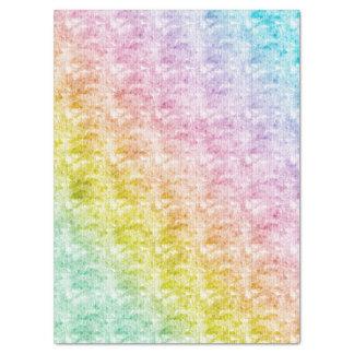 Pasteles del arco iris con textura gráfica papel de seda
