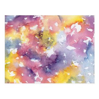 Pasteles del arco iris postal