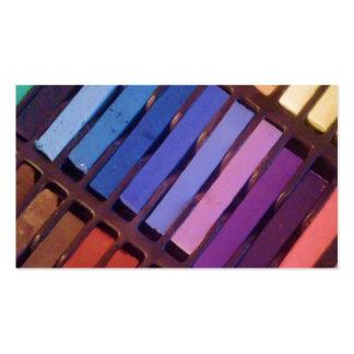 Pasteles del color del artista tarjeta de visita