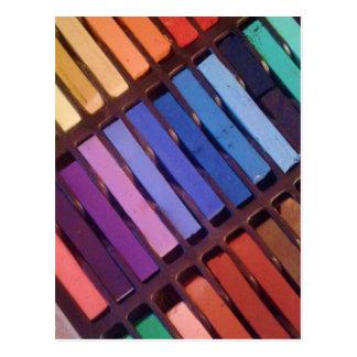 Pasteles suaves de la tiza del artista tarjeta postal